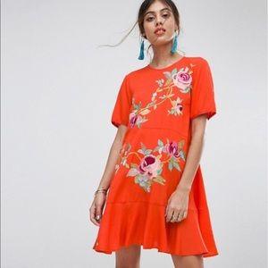 ASOS Orange Floral Dress